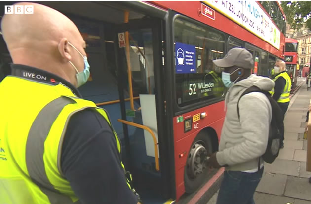 Over 100 Facemask Fines Issued on Trains and Buses
