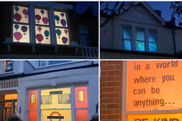 Southfields Lit Up in a Winter Wanderland