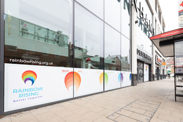 The Rainbow Rising initiative at the former Debenhams site