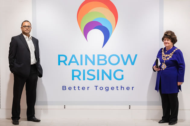 Rainbow Launch With Mayor Of Wandsworth and Shaylesh Patel