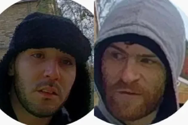 Close ups of the two men sought in connection with West Hill burglary